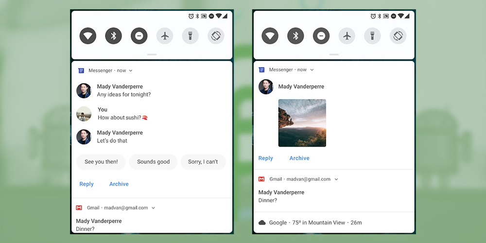 Enhancements in The Notifications - Android P